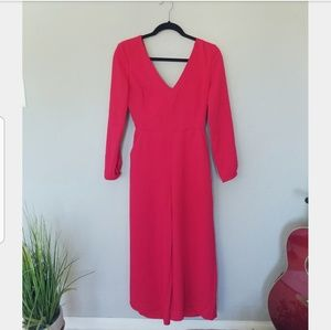 Aritzia Wilfred Red Jumpsuit Size 4